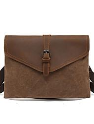 cheap -2021 new retro handbag men's leather clutch bag men's envelope bag tide waterproof canvas small shoulder messenger bag