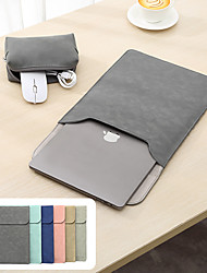 cheap -PU Leather Laptop Sleeve Bag Case For Macbook Air Pro Notebook Sleeve Bag For MacBook 11 12 13.3 15 15.6 Inch Case with Storage Bag