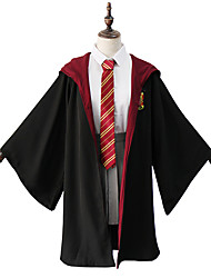 cheap -Harry Potter Gryffin d'or Hermione Granger Outfits Masquerade Women's Movie Cosplay Vacation Halloween Black Blouse Skirt Cloak Halloween Carnival Masquerade Polyester / Tie / Tie