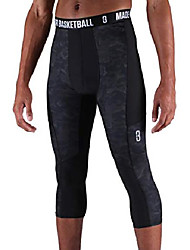 cheap -triple threat 3/4 compression tights. stretch mens compression tights for athletes to help recovery time and increase movement (black camo - xl)
