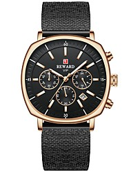 cheap -REWARD Mens Watch Top Brand  Luxury Transparent Skeleton Dial Men's Quartz Steel Strap Watch Fashion Waterproof Steel Clock