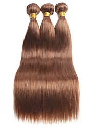 cheap -Ishow 2 Bundles Human Hair Weaves 8A Quality Color Straight Bar 30# Hair Curtain 100% Real Peruvian Wig 2 Pieces Combination Set Hair Extensions