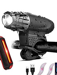 cheap -LED Bike Light Front Bike Light Rear Bike Tail Light LED Bicycle Cycling Waterproof Portable LED Rechargeable Li-Ion Battery 800 lm Natural White Camping / Hiking / Caving Everyday Use Cycling / Bike