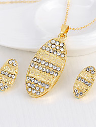cheap -Women's Bridal Jewelry Sets Geometrical Precious Fashion Gold Plated Earrings Jewelry Gold For Christmas Party Wedding Gift Festival 1 set