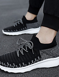 cheap -Men's Trainers Athletic Shoes Vintage British Athletic Outdoor Running Shoes Walking Shoes Mesh Breathable Shock Absorbing Wear Proof Dark Grey Black and White Black Fall Spring