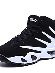 cheap -Men's Trainers Athletic Shoes Comfort Shoes Sporty Athletic Basketball Shoes PU Non-slipping Black / White Black / Red Black / Blue Fall