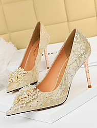 cheap -628-2 european and american sexy banquet high-heeled shoes stiletto high-heeled shallow mouth pointed pearl flower rhinestone women's shoes single shoes