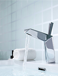 cheap -Bathroom Basin Sink Faucet Brass Single Lever Single Hole Basin Faucet Chrome/Matte Black Availble