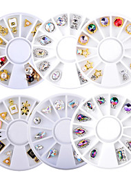 cheap -6 Wheel 3D Charm Alloy Rhinestones Nail Art Decorations Perfume Bottle Bow Flowers Triangle DIY Nail Jewelry Supplies