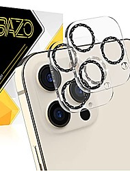 cheap -[black] compatible for iphone 12 pro max 6.7'' prismatic blingy camera lens protector, colorful aluminum alloy ring full coverage tempered glass cover-black (2 pack)