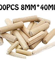 cheap -Round Wood Tenon 100PCS 8*40MM Connector Beech Round Wood Pin Wood Stick Plate Suitable For Assembling Furniture Kitchenware Wardrobe Drawer