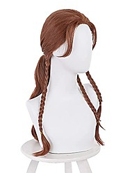 cheap -Cosplay Costume Wig for Black Widow 2021 Natalia Alianovna Romanova Synthetic Hair Heat Resistant Role Play Hairs for Halloween Christmas Carnival Party (Brown)