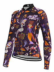 cheap -21Grams Women's Long Sleeve Cycling Jersey Spandex Purple Bike Top Mountain Bike MTB Road Bike Cycling Quick Dry Moisture Wicking Sports Clothing Apparel / Stretchy / Athleisure