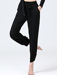 cheap -Ballroom Dance Activewear Pants Cinch Cord Solid Women's Training Performance High Modal
