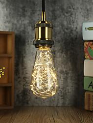 cheap -Holiday Decoration Light Bulb 4pcs 1pcs ST64 String Light Bulb Retro Art Design Edison Style Filament Copper Wire Starry Light Bulb Warm White for Home Bar