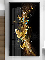 cheap -Wall Art Canvas Poster golden butterfly Home Decoration Decor Rolled Canvas No Frame Unframed Unstretched