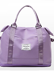 cheap -Women's Large Capacity Waterproof Sports Oxford Cloth Travel Bag Zipper Solid Color Daily Outdoor Purple Pink Gray Black