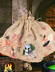 cheap -Halloween Small Gifts Jewelry Candy Bundle Pocket Small Gunny Bag Skull Gunny Bag Party Decorative Packaging Bag
