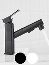 cheap -Bathroom Sink Faucet - Rotatable / Pull Out Electroplated / Painted Finishes Centerset Single Handle One Holebath Taps
