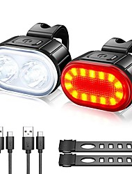 cheap -LED Bike Light LED Light Front Bike Light Tail Light LED Bicycle Cycling Waterproof USB Charging Output New Design Lightweight Li-polymer 300 lm Rechargeable Batteries Cycling / Bike
