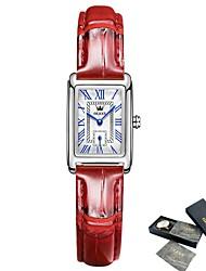 cheap -OLEVS Fashion Watch For Women Dress Leather Rectangle Ladies Bracelet Watch Simple Casual Female Quartz Women Wrist Clock