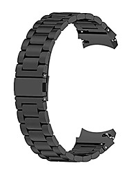 cheap -compatible with samsung galaxy watch4 40mm/44mm galaxy watch 4 classic 46mm/42mm,metal stainless steel adjustable strap bracelet replacement bands with removal tool