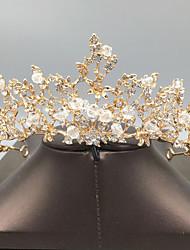 cheap -Korean Bridal Headdress Crown Wedding Dress Wedding Accessories Handmade Beaded Crown Childrens Birthday Super Fairy Hair Accessories
