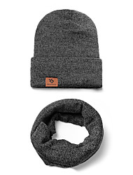 cheap -Men's Women's Beanie Hat  Scarf Set Thermal Warm Windproof Hat Winter Snowboard for Skiing