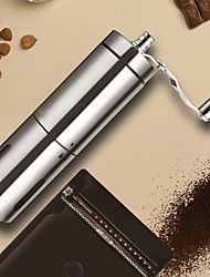 cheap -Hand Manual Coffee Portable Grinder Adjustable Ceramic Bean Mill Stainless Steel Kitchen Mills Tools
