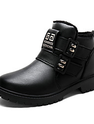 cheap -Boys' Boots Ankle Boots Cowboy / Western Boots Snow Boots Fur Lining PU Casual / Daily Snow Boots Big Kids(7years +) Little Kids(4-7ys) Daily Black Brown Fall Spring / Booties / Ankle Boots / Rubber