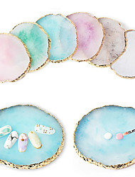 cheap -1 Pcs Round False Nail Tips Display Board Resin Stone Color Painting Palette Holder Practice Nail Art Tools Manicure Accessories