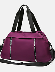 cheap -Women's Large Capacity Waterproof Sports Oxford Cloth Travel Bag Zipper Solid Color Daily Outdoor Purple Pink Gray Green