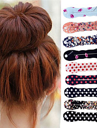 cheap -1PC Magic Foam Sponge Clip Bun Curler Hairstyle Twist Maker Tool Dount Twist Hair Accessories Hair Styling Tools