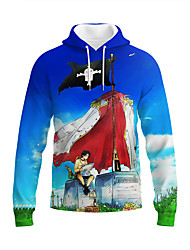 cheap -Inspired by One Piece Portgas D. Ace Anime Cartoon Polyster Anime 3D Harajuku Graphic Hoodie For Unisex / Couple's