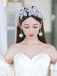 cheap -Water Drop Flashing Diamond Handmade Beaded Crystal Headband Headdress Japan And South Korea Wedding Bride Wedding Dress Photo Headband Hair Accessories