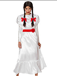 cheap -Annabelle Dress Broken Doll Costumes Movie / TV Theme Costumes Party Prom Teen Adults' Women's Gothic Guro Lolita Halloween Festival / Holiday Rayon White Easy Carnival Costumes