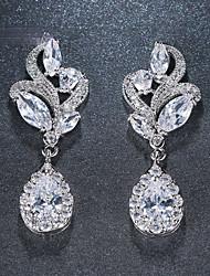 cheap -Women's Cubic Zirconia Drop Earrings Earrings Pear Cut Drop Elegant Fashion Imitation Diamond Earrings Jewelry Rose Gold / Silver / Gold For Wedding Gift Prom Work Festival 1pc