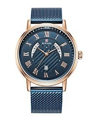 cheap -Reward New Watch Men Fashion Design Military Quartz Clock Top Brand Business Luxury Mesh Strap Waterproof Japan Movement