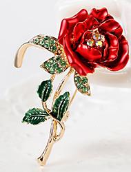 cheap -Women's Brooches Geometrical Flower Flower Shape Artistic Fashion European Sweet Brooch Jewelry Red For Street Daily Festival