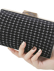 cheap -Women's Bags Polyester Evening Bag Chain Plain Party / Evening Office & Career Evening Bag Chain Bag Wine Silver Black
