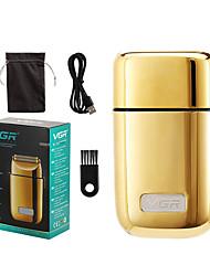 cheap -Razor Electric Razor Set Gold/Silver Mini Men's Full Metal Beard Trimmer Shaving 8w USB Charging Electric Push Barber Razor