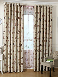 cheap -Window Curtain Window Treatments Pink Coffee 1 Panel Room Darkening Grommet Rod Pocket Solid For Living Room Bed Room