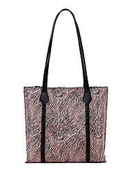 cheap -Women's Bags PU Leather Tote Top Handle Bag Zebra Print Shopping Daily Handbags Blue Yellow Blushing Pink Gray