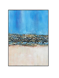 cheap -Oil Painting Handmade Hand Painted Wall Art Vertical Modern Abstract Blue and White Pop Art  Home Decoration Decor Rolled Canvas No Frame Unstretched