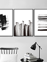 cheap -Wall Art Canvas Prints Painting Artwork Picture Abstract Black White Home Decoration Dcor Rolled Canvas No Frame Unframed Unstretched