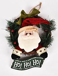 cheap -Christmas Wreath Christmas Vine Ring Ornaments Door Hanging Listing Christmas Decoration cx14