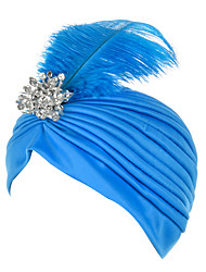 cheap -Feather Diamond Headscarf Stage Headwear Hair Accessories Bridal Wedding Headband