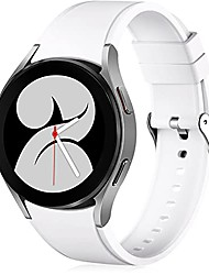 cheap -compatible for samsung galaxy watch 4 band 44mm 40mm/galaxy watch 4 classic bands 46mm 42mm/galaxy watch 3 41mm band, 20mm soft silicone watch band bracelet sports strap for men women white