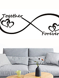 cheap -Love Wall Stickers Bedroom Living Room Removable Pre-pasted PVC Home Decoration Wall Decal 1pc