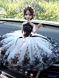cheap -car decoration creative car wedding doll wedding car baby doll cute gift center console decoration